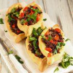 Turške pice ali ladjice z mletim mesom