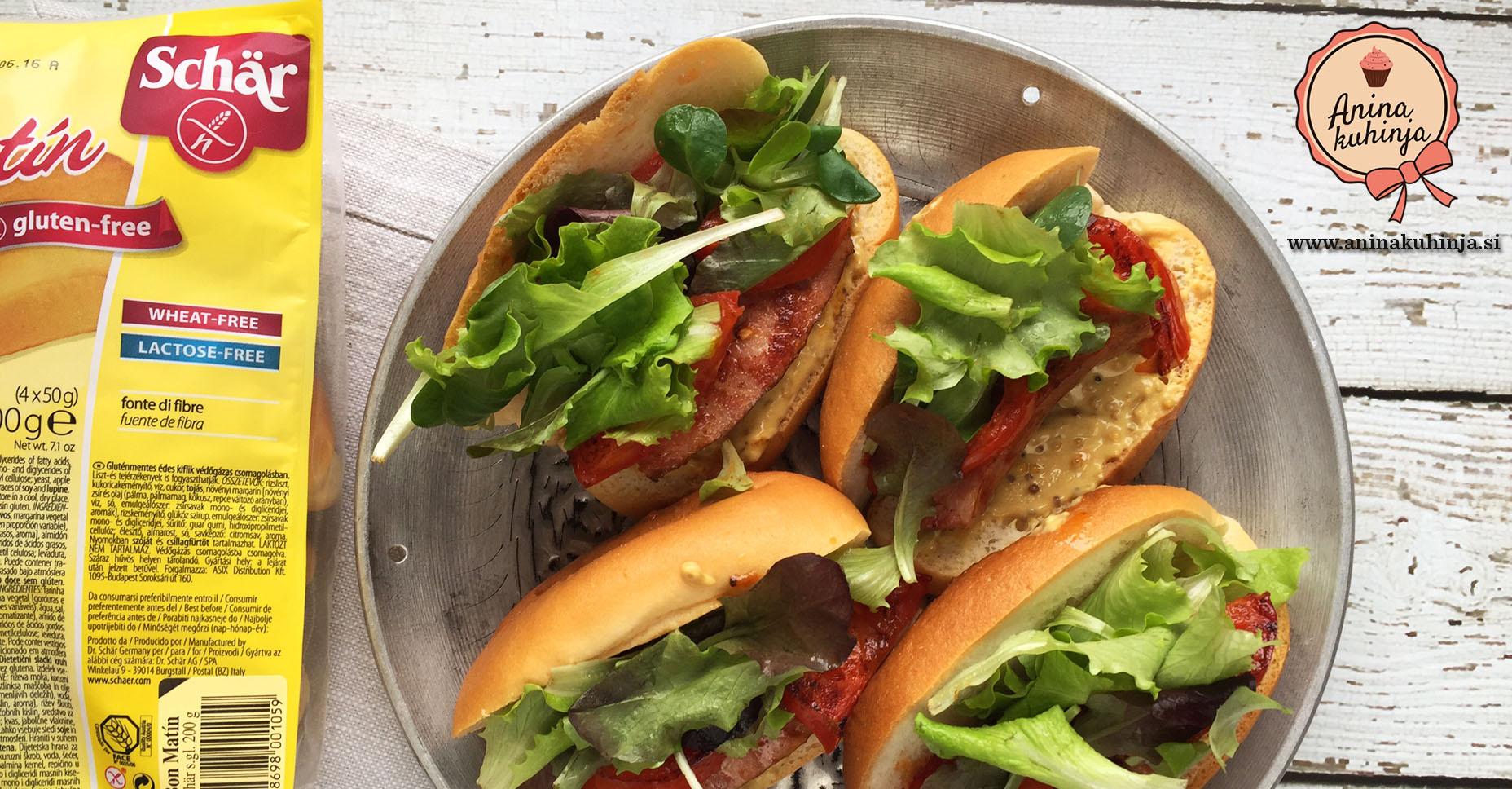 Mini hotdogi s kranjsko klobaso in polnozrnato gorčico