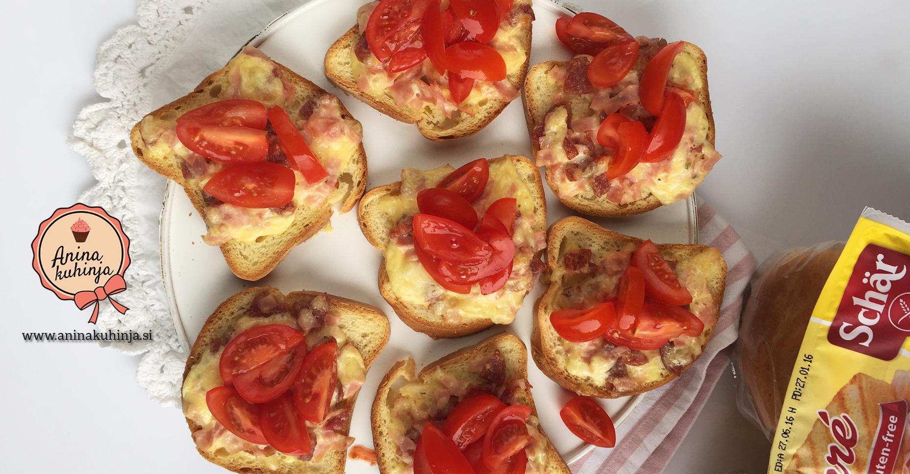 Topljivi kruhki s češnjevimi paradižniki