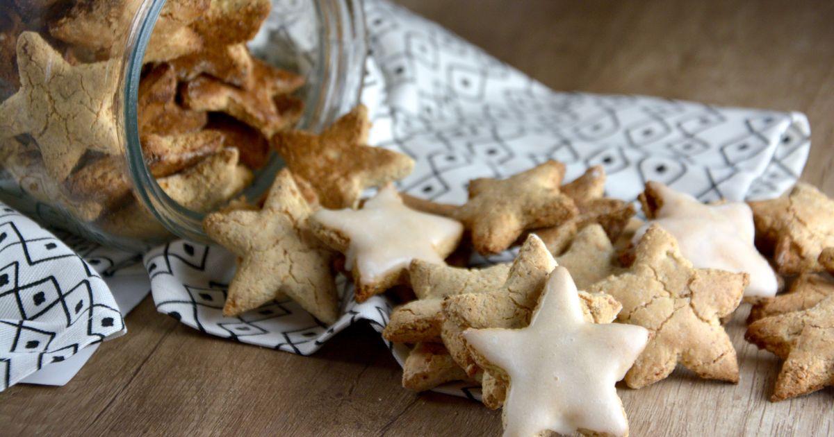 praznične lešnikovo - mandljeve zvezdice
