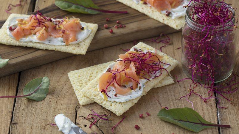 Brezglutenski toast krekerji – Fette Croccanti