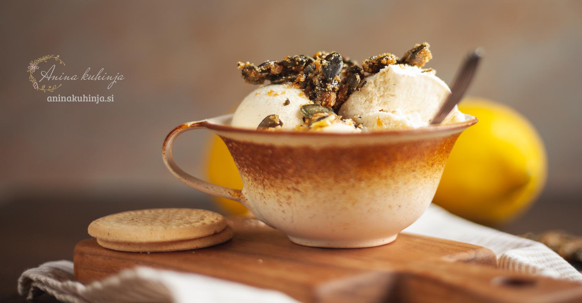 sladoled z bučnimi semeni
