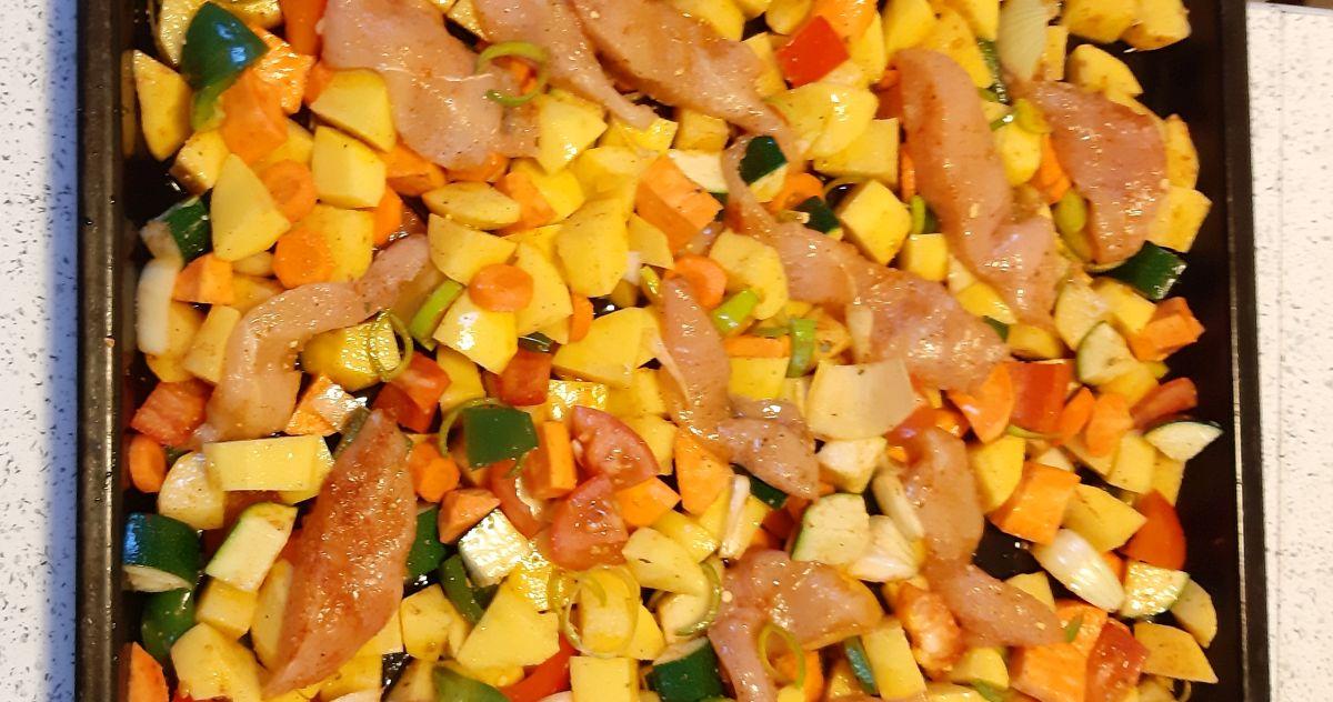 zelenjava s piščancem